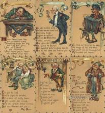 set203 - Leatherelle Valentine Series 6 Card Set No 114 Postcard Old Vintage Antique