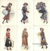 set210 - Usabal Postcards 6 Card Set Series 316, Postcard Old Vintage Antique