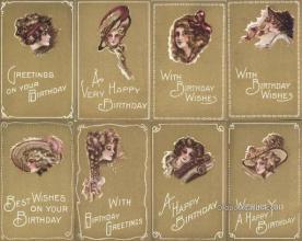 set211 - Cobb Shinn Postcards 8 Card Set Postcard Old Vintage Antique