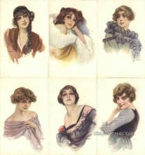 set212 - Metlicovitz Postcards 6 Card Set Series 242 Old Vintage Antique