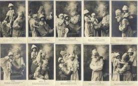 set215 - H Manuel Paris 10 Card Set Postcard Old Vintage Antique