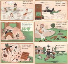 set224 - Val Perry 6 Card Set Postcard Old Vintage Antique