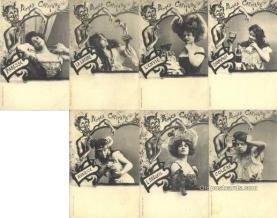 set225 - 7 Card Set Postcard Old Vintage Antique