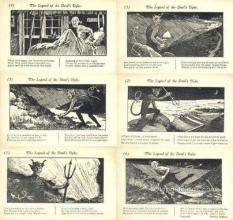 set228 - Legend of the Devil's Dyke 6 Card Set Postcard Old Vintage Antique