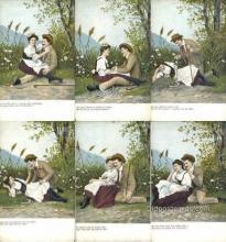 set234 - 6 Card Set Postcard Old Vintage Antique