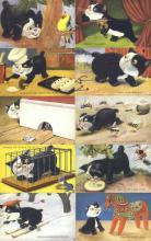 set242 - Tailess Cat 10 Card Set Postcard Old Vintage Antique