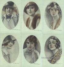 set248 - Mauzan Postcards 6 Card Set Series 279 Old Vintage Antique