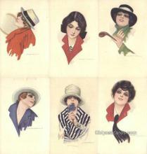 set249 - Nanni Postcards 6 Card Set Series 309 Post card Old Vintage Antique