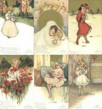 set266 - Samuel Schmucker Postcards 6 Card Set Childhood Days Postcard Old Vintage Antique