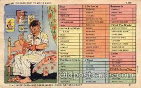 sew001009 - Sewing, Knitting, Postcard Postcards