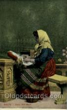 sew001030 - Malta Gozo Lace Morh, Sewing, Knitting, Postcard Postcards