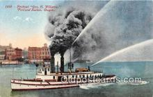 shi000009 - Fireboat, Geo H Williams Portland Harbor, Oregon USA Ship Postcard Post Card