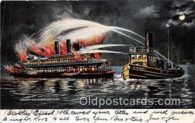 shi000013 - Fire Boat Postcard