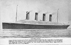 shi002006 - Steamer Titanic loss of over 1500 lives, Ship Ships Postcard Postcards