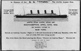 shi002009 - In Memory of the S.S.Titanic Ship Ships Postcard Postcards