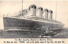 shi002033 - White Star Liner, Titanic Ship Ships Postcard Postcards
