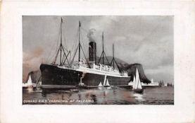 shi002039 - Cunard R.M.S. Carpathia at Calermo, Titanic Ship Ships Postcard Postcards