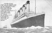shi002057 - Titanic Ship Ships 1300 lives Postcard Postcards