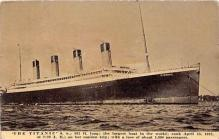 shi002077 - White Star Line Steamer Titanic Ship Ships Postcard Postcards