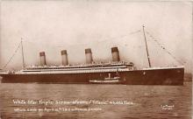 shi002078 - White Star Line Steamer Titanic Ship Ships Postcard Postcards