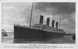 shi002080 - White Star Line Steamer Titanic Ship Ships Postcard Postcards