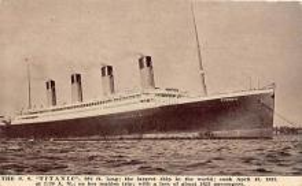 shi002081 - White Star Line Steamer Titanic Ship Ships Postcard Postcards
