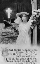 shi002128 - Nearer, My God to Thee,Titanic Ship Postcard Postcards