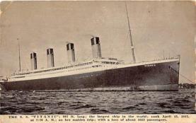 shi002147 - Titanic Ship Postcard Post Cards