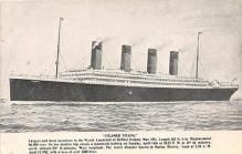 shi002172 - Steamer TitanicLoss 1300 Lives Postcard Post Card