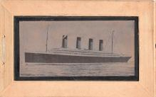 shi002180 - Titanic Ship Post Card Old Vintage Antique