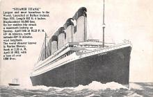 shi002182 - Titanic Ship Post Card Old Vintage Antique