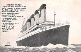 shi002182 - Titanic Ship Post Card Old Vintage Antique