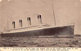 shi002184 - Titanic Ship Post Card Old Vintage Antique
