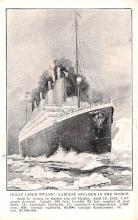 shi002186 - Titanic Ship Post Card Old Vintage Antique