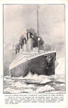 shi002186 - Titanic Ship Post Card Old Vintage Antique