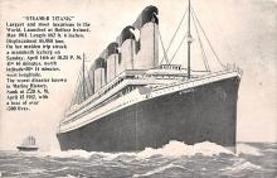 shi002188 - Titanic Ship Post Card Old Vintage Antique