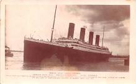 shi002190 - Titanic Ship Post Card Old Vintage Antique