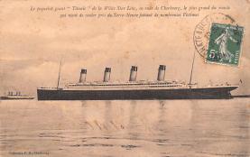 shi002192 - Titanic Ship Post Card Old Vintage Antique