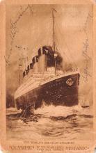 shi002200 - Titanic Ship Post Card Old Vintage Antique