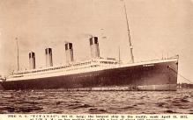 shi002206 - Titanic Ship Post Card Old Vintage Antique
