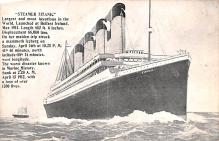 shi002208 - Titanic Ship Post Card Old Vintage Antique