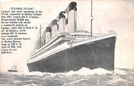 shi002208 - Titanic Ship Post Card Old Vintage Antique