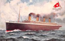 shi002214 - Titanic Ship Post Card Old Vintage Antique