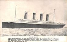 shi002216 - Titanic Ship Post Card Old Vintage Antique