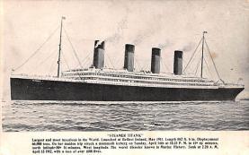 shi002218 - Titanic Ship Post Card Old Vintage Antique