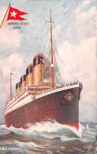 shi002220 - Titanic Ship Post Card Old Vintage Antique