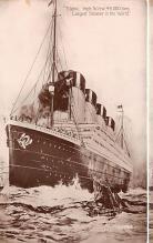 shi002224 - Titanic Ship Post Card Old Vintage Antique