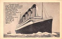 shi002230 - Titanic Ship Post Card Old Vintage Antique