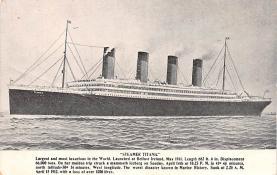 shi002232 - Titanic Ship Post Card Old Vintage Antique
