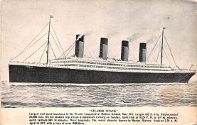 shi002234 - Titanic Ship Post Card Old Vintage Antique